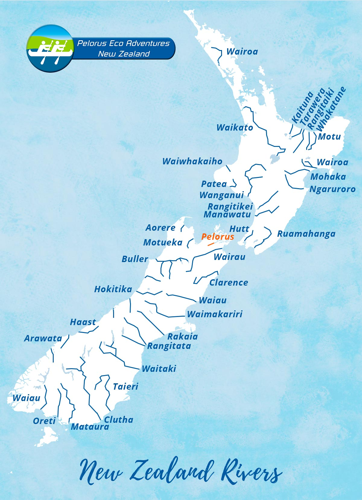 New Zealand rivers map