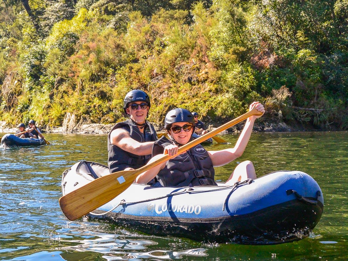 Couple kayaking in Havelock, Marlborough