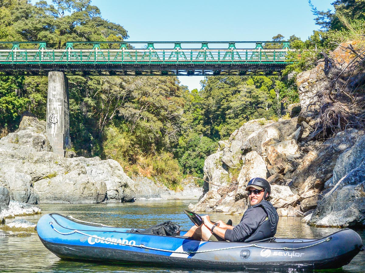 Guest kayaking at the Pelorus river, NZ