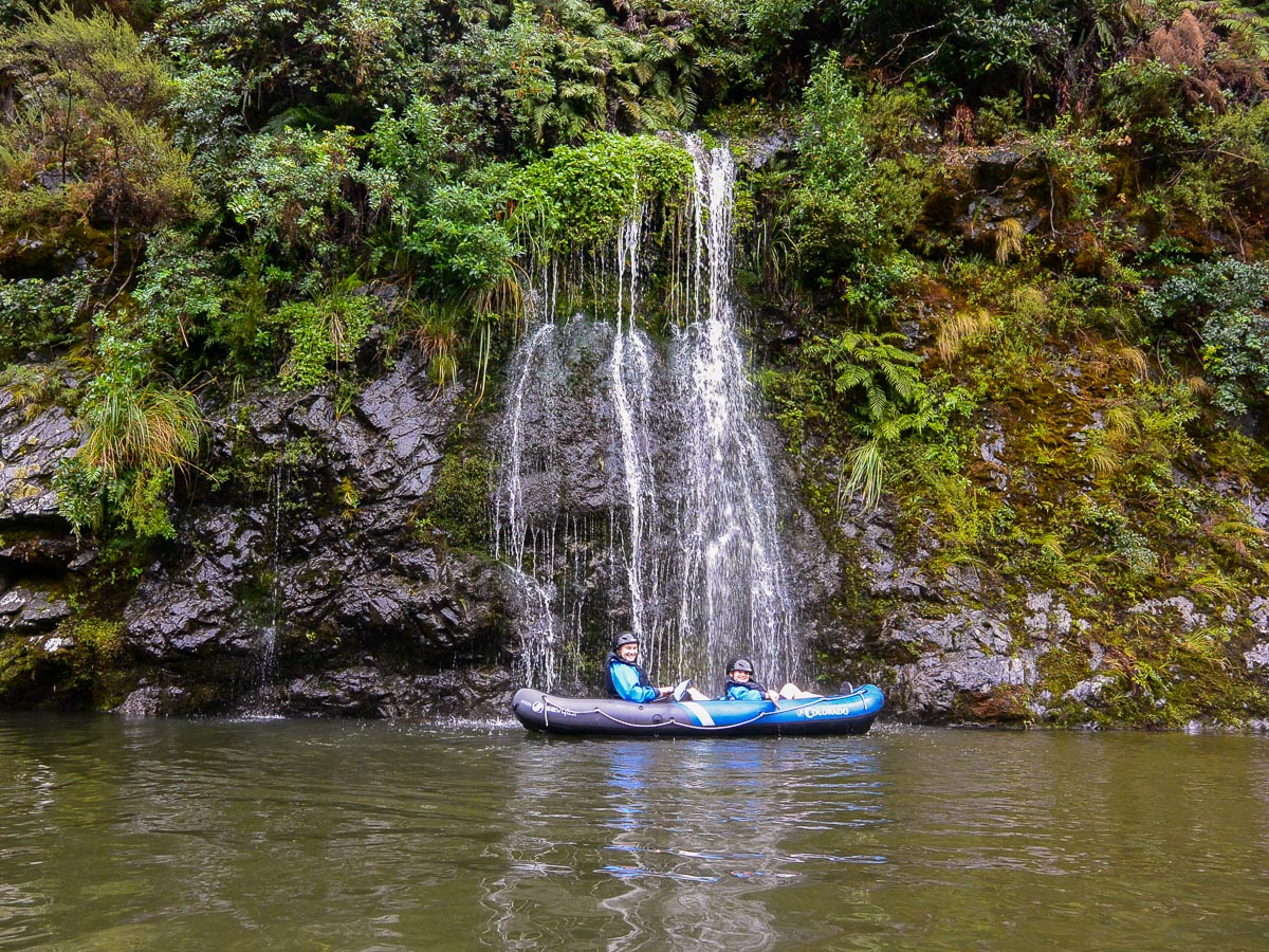 Falls at the Pelorus river, New Zealand