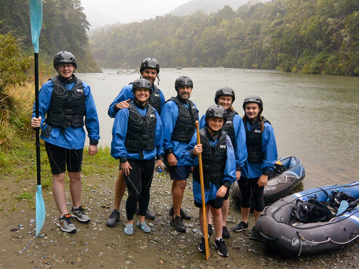 Group at the Pelorus river, New Zealand