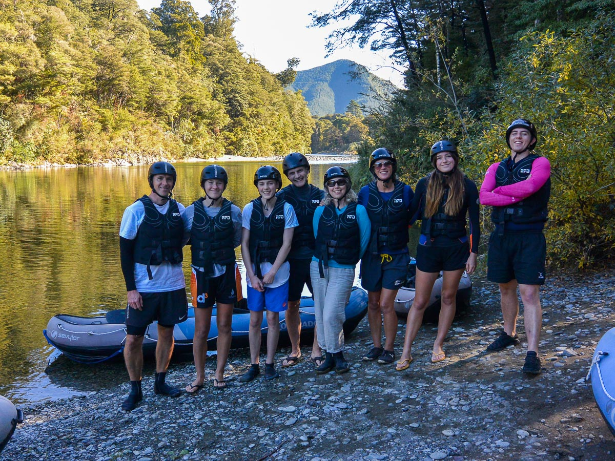 Group at the Pelorus river, NZ