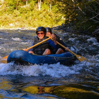 Kayaking fun at the Pelorus river, NZ