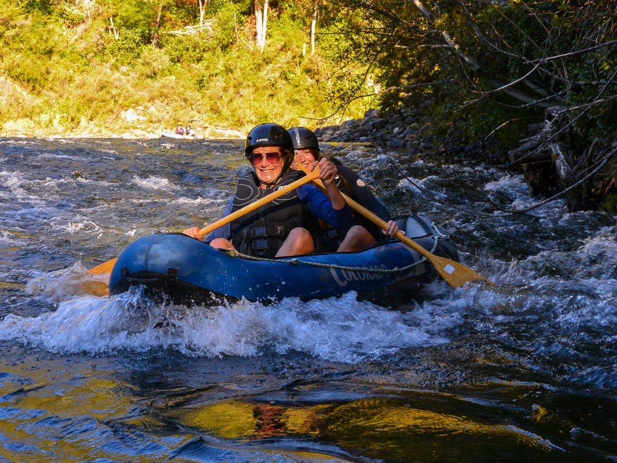 Kayaking fun at the Pelorus river, NZ