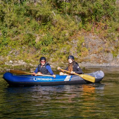 Mum and Daughter Kayaking the Pelorus river