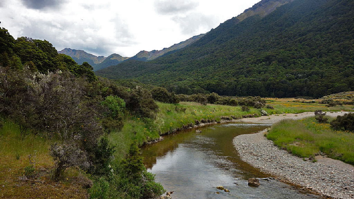 Camping Tour at Cobb river, New Zealand