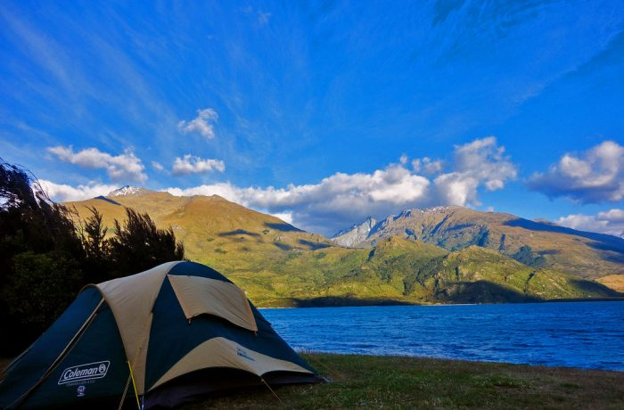 Camping tour in New Zealand's South Island