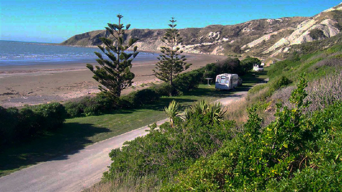 Camping Tour at Marfells Beach, New Zealand