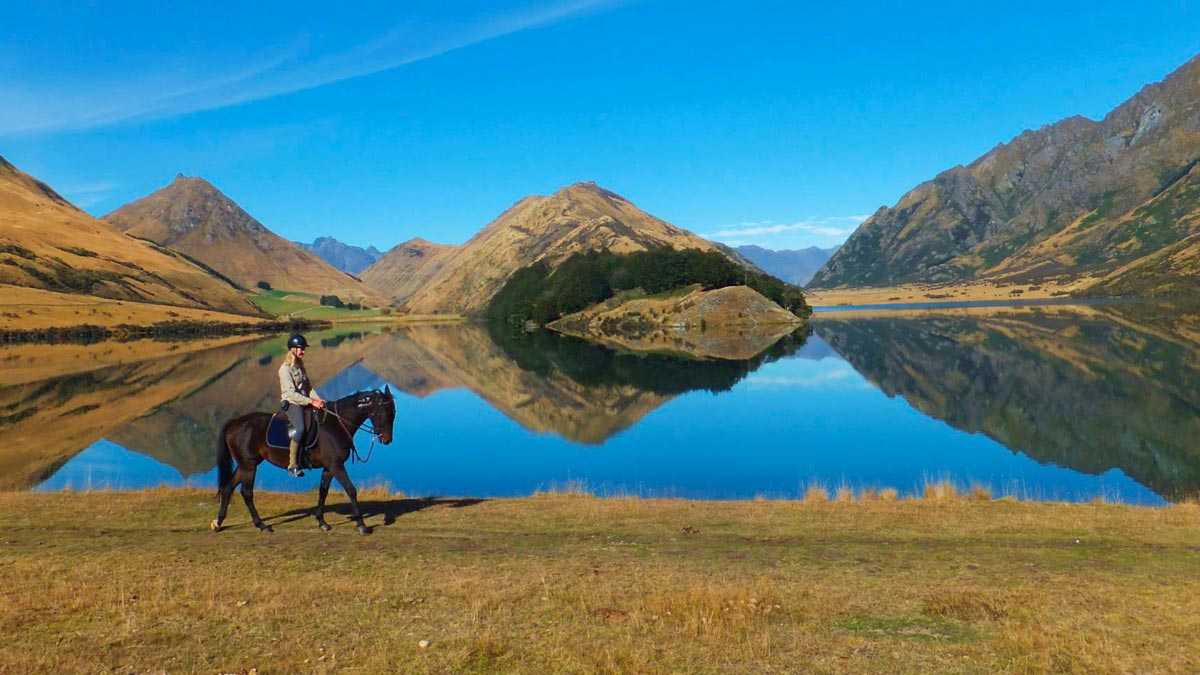 Eco Friendly Activities in New Zealand - Horse riding in Fiordland