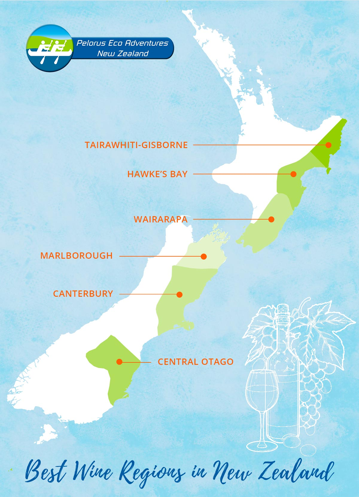 Best Wine Regions New Zealand Map