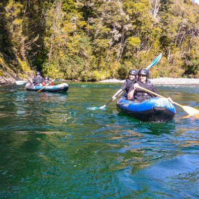 Kayak tour at the Pelorus river, NZ