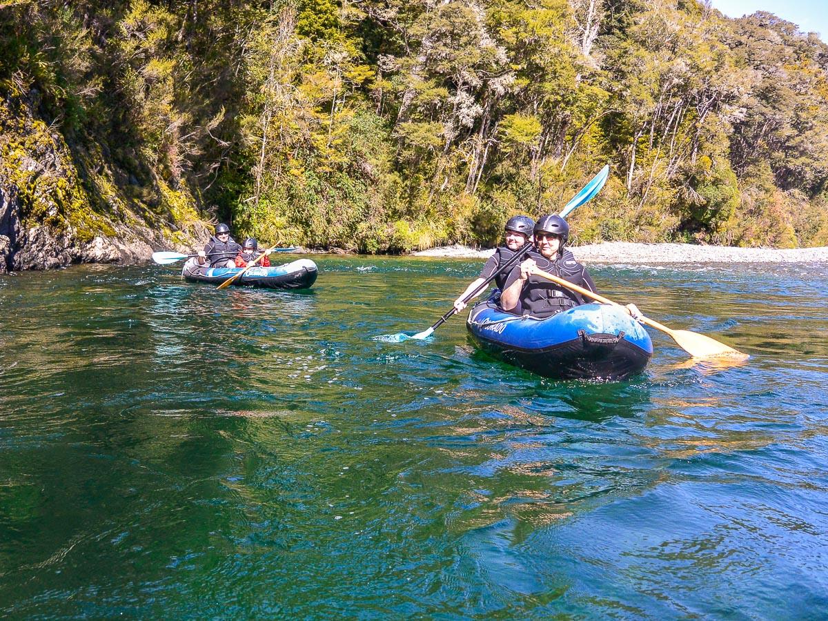 Kayak tour at the Pelorus river, NZ