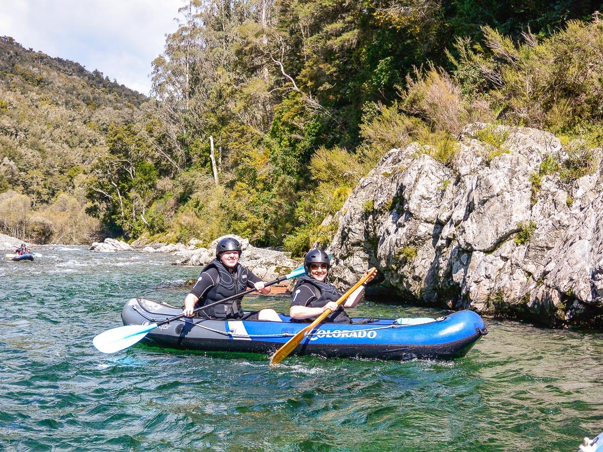 Ladies kayaking in New Zealand