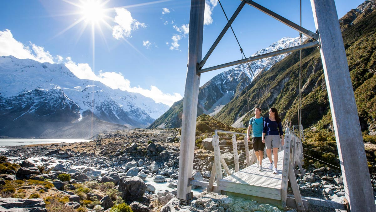Hiking New Zealand Mountains