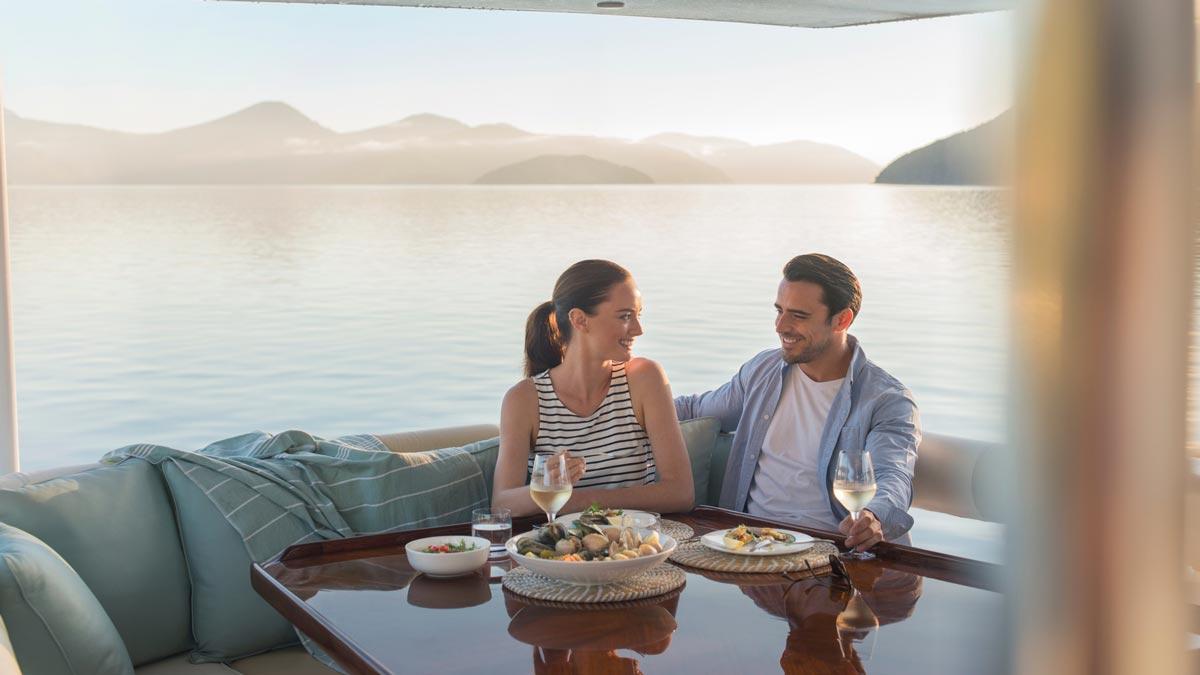 Wine Tasting on a boat in Marlborough, NZ